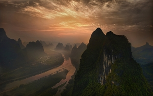 Picture of Dawn at Li River