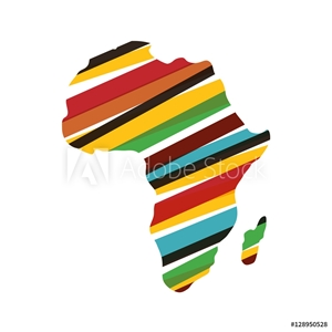 Picture of Africa map silhouette icon vector illustration graphic design