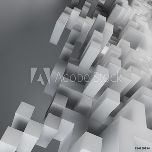 Picture of Abstract cube design background - computer generated render