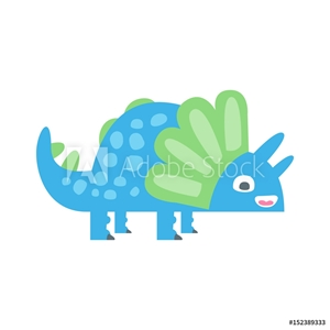 Picture of Cute funny colorful dinosaur. Prehistoric animal character colorful vector Illustration