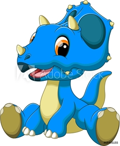 Picture of Cute baby triceratops cartoon