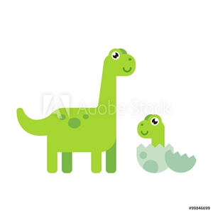 Picture of Cute Cartoon Dinosaurs