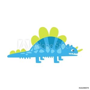 Picture of Blue cute styracosaurus. Prehistoric animal character colorful vector Illustration