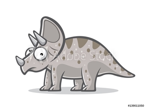 Picture of Cartoon Funny Triceratops