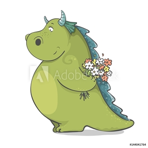 Picture of cute cartoon dragon