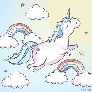Picture of Cartoon magic unicorn.
