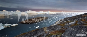 Picture of Moving ice in the water of Illulissat Fjord, Disko Bay, Greenland