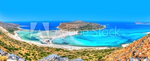 Picture of Beautiful Balos beach in the famous island of Crete - Greece