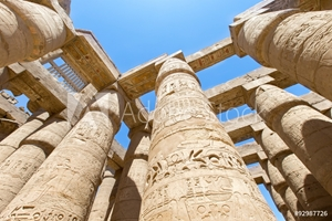 Picture of Ancient ruins of Karnak temple in Egypt