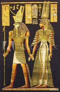 Picture of Black egyptian papyrus