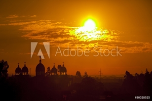 Picture of Addis Ababa at sunrise