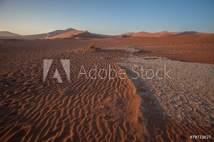 Picture of cracked soil, Sossusvlei, Namibia