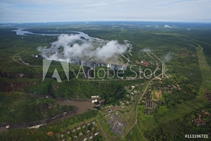 Picture of Aerial view of Victoria Falls