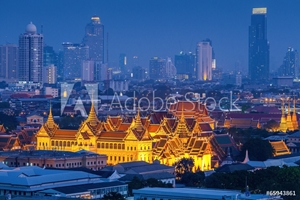 Picture of Grand palace at twilight in Bangkok, Thailand