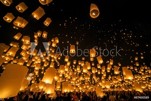 Picture of Loi Krathong and Yi Peng Festival, Chiang mai, Thailand