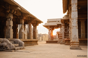 Picture of Beautiful ancient ruins of Hazara Rama temple in Hampi