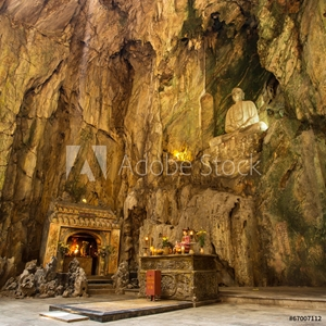 Picture of Buddhist pagoda in Huyen Khong cave in Marble Mountains at Da Na