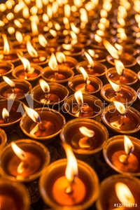 Picture of Candles in Swayambhunath temple in Kathmandu, Nepal