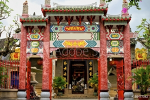 Picture of Chinese temple in Hoi An town, Vietnam.