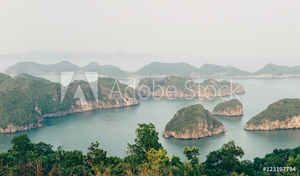 Picture of Beautiful mountain landscape in Ha long Bay