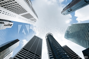 Picture of Modern office buildings in Singapore