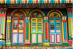 Picture of Colourful Architecture of Little India, Singapore