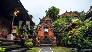 Picture of Balinese traditional temple and gate, Ubud