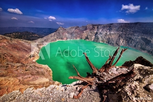 Picture of Crater of Ijen volcano on Java island