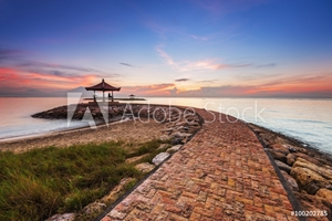Picture of Karang beach Sanur, Bali, Indonesia in the morning