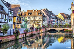 Picture of Colorful traditional french houses in Colmar