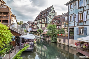 Picture of Colorful traditional french houses in Colmar, France
