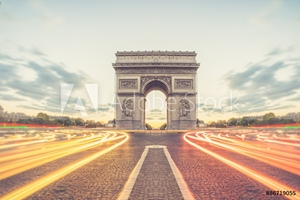 Picture of Arc de Triomphe or Arch of Triumph of the Star is one of the mos