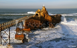 Picture of Biarritz, rocher de la Vierge
