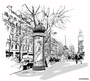 Picture of Boulevard in Paris