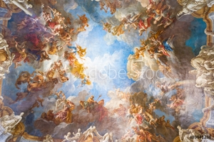 Picture of Ceiling painting of Palace Versailles near Paris, France