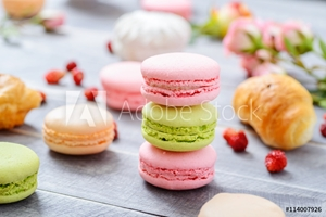 Picture of Colorful French Dessert Macaroons