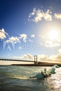 Picture of Bridge over Jokulsarlon lagoon in Iceland