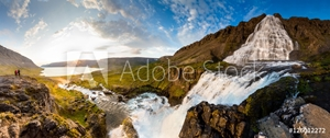 Picture of Big Dynjandi waterfall in Iceland