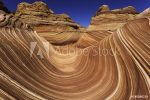 Picture of Paria Canyon-Vermilion Cliffs Wilderness The Wave, Coyote Buttes North, Arizona, USA
