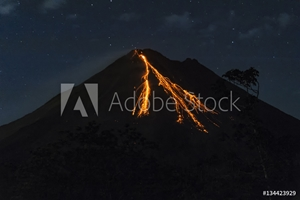 Picture of Arenal Volcano Costa Rica Erupting