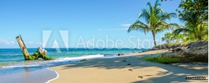 Picture of Caribbean beach of Costa Rica close to Puerto Viejo