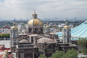 Picture of Basilica and skyline of Mexico City