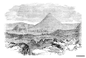 Picture of Comayagua, in Honduras, vintage engraving