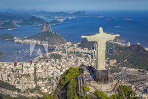 Picture of Aerial panorama of Botafogo Bay and Sugar Loaf Mountain, Rio De Janeiro