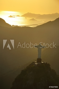 Picture of Aerial view of Christ on Corcovado Hill, Rio de Janeiro, Brazil