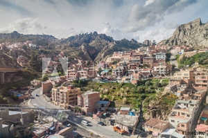 Picture of Aerial view of La Paz, Bolivia