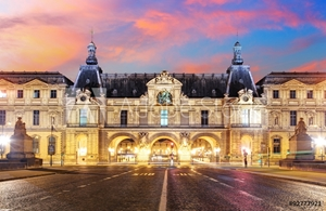 Picture of  Louvre Museum in Paris at sunrise, France