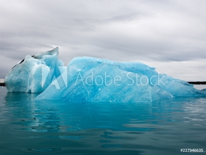 Picture of Iceberg floating in lagoon