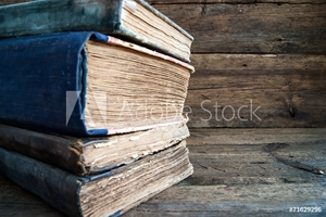 Picture of A Stack of old books